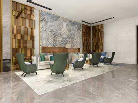 售楼处休闲厅家具效果图L021